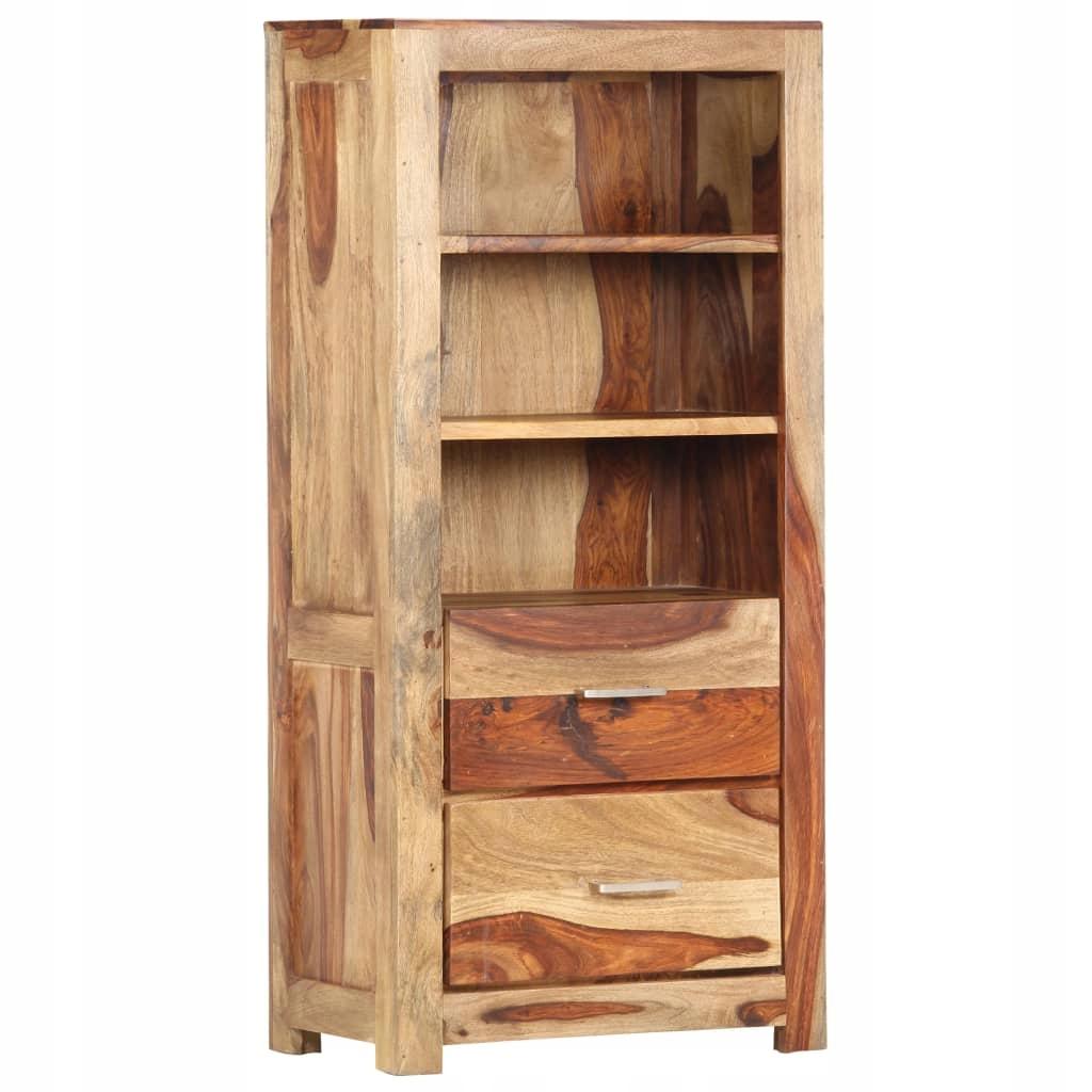 Regał, 50 x 30 x 108 cm, lite drewno sheesham