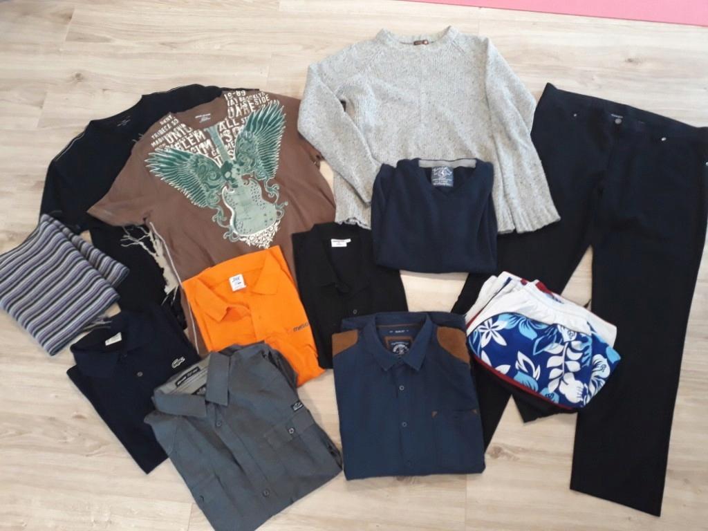 zestaw ubrań męskich L XL markowe 14 szt