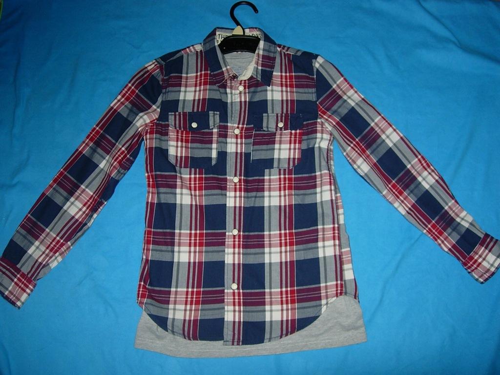 Koszula H&M 134 + koszulka