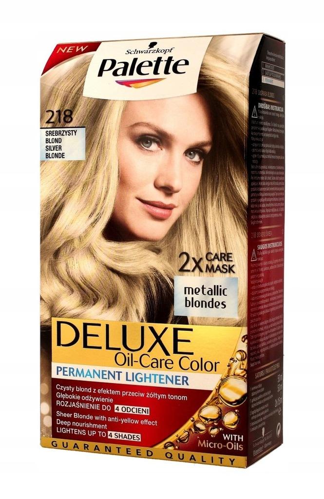 Palette Deluxe Farba perm. nr 218 Srebrzysty Blond
