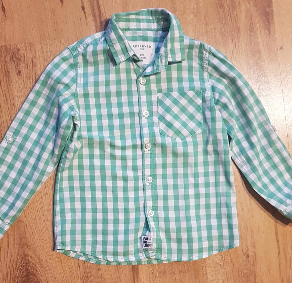 Koszula chłopięca RESERVED rozm. 104 7533110874  Qe8SW
