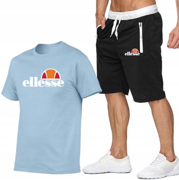 T-shirt J.NIEBIESKI+ Spodenki Ellesse R XL MPA MOD