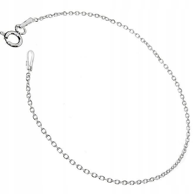 Bransoletka srebrna 18 cm ankier łańcuszek srebro