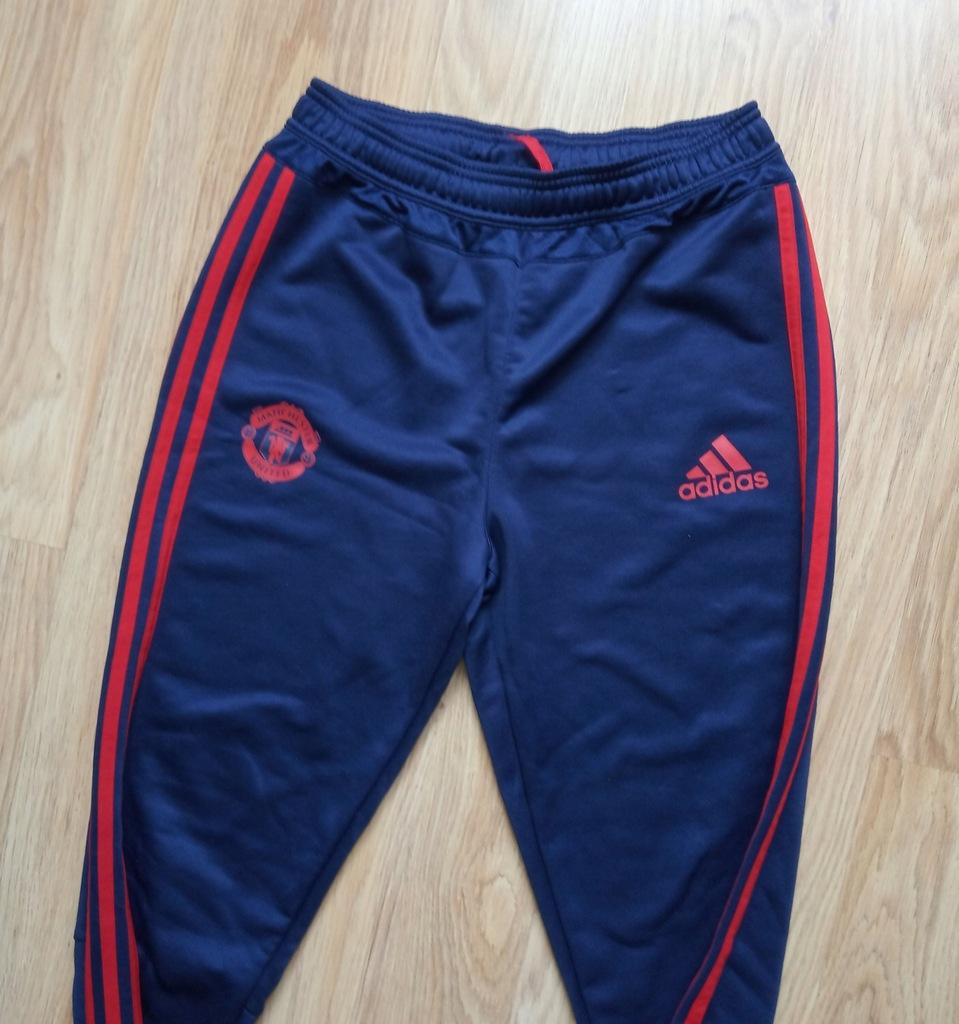 Spodnie dresy Manchester United Adidas wear S