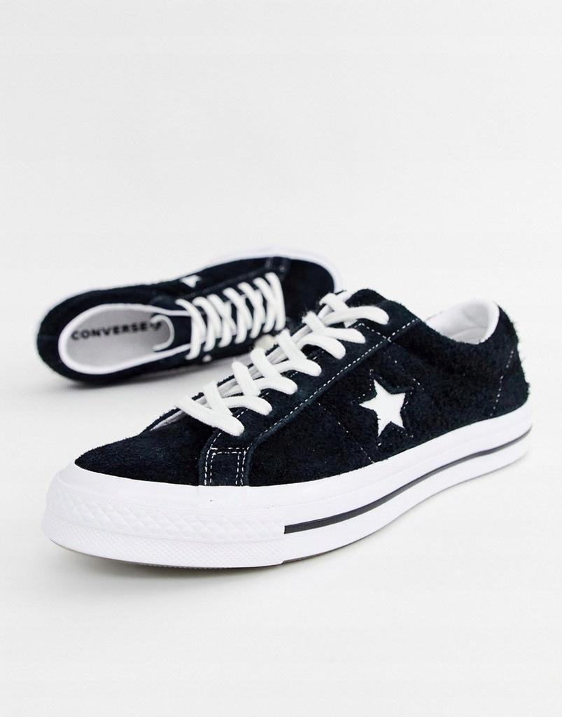 07L#E10*CONVERSE ONE STAR OX 158369C CZARNE 45 P04