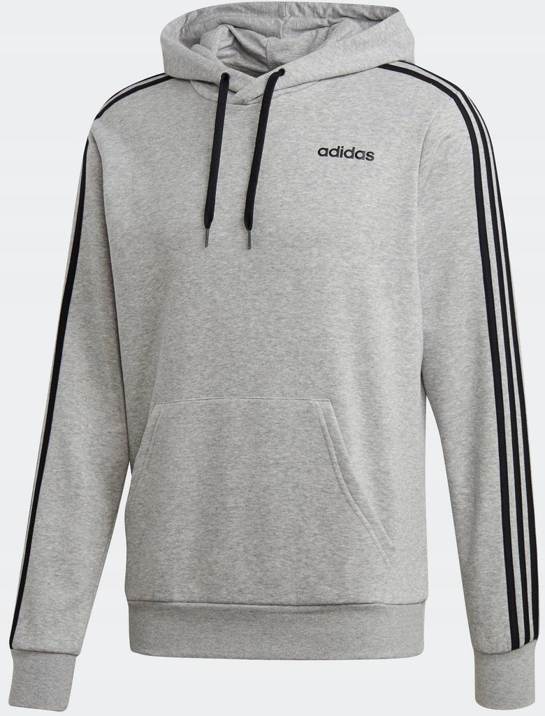 bluza adidas 3 stripes szara
