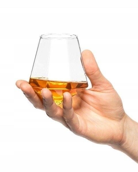 Gift prezent szklanka do whiskey 350ml w kształcie
