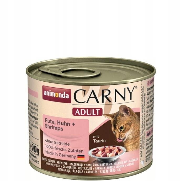 ANIMONDA Carny Adult smak: indyk, kurczak, krewetk