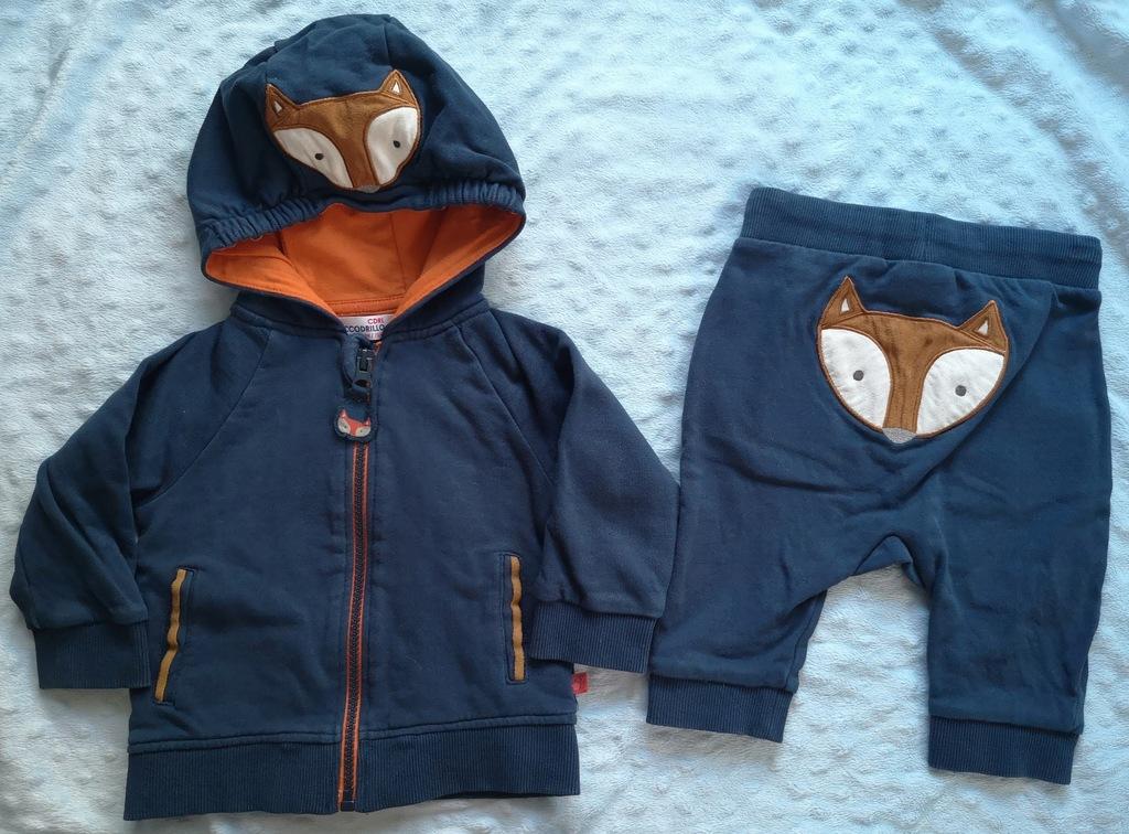 COCCODRILLO dres spodnie bluza 68 - 74 cm