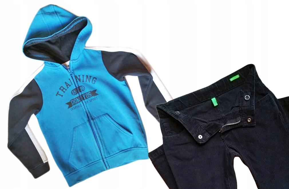 Benetton Domyos spodnie i bluza dla chłopca 6-7 l.