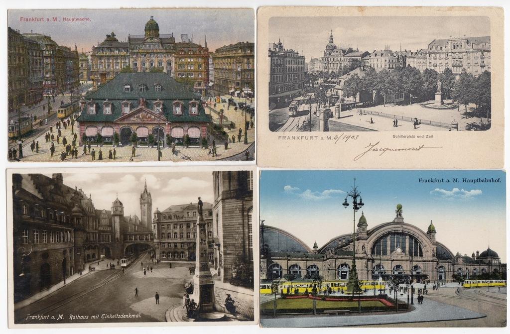 Stare pocztówki TRAMWAJ Frankfurt aM (4 szt.) 4T58
