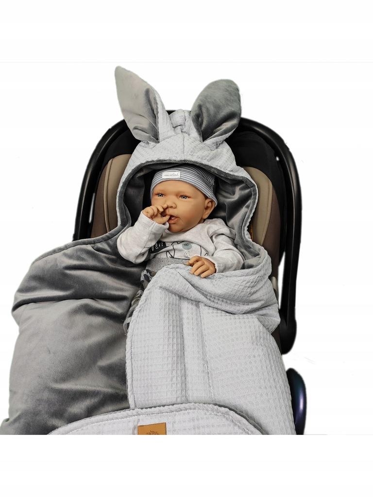 Śpiworek otulacz do fotelika wózka dziecięcego