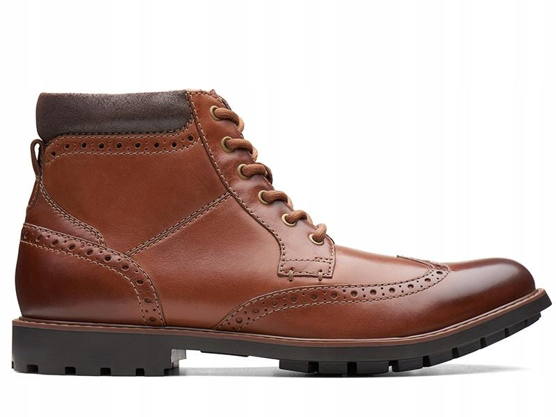 Clarks Curington Rise Tan Leather (261368547) 42