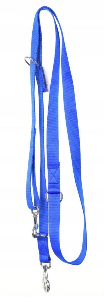 Smycz regulowana gładka - 30-260 cm Niebieska