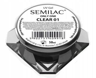 Semilac UV Gel Only One Clear 01 50ml żel