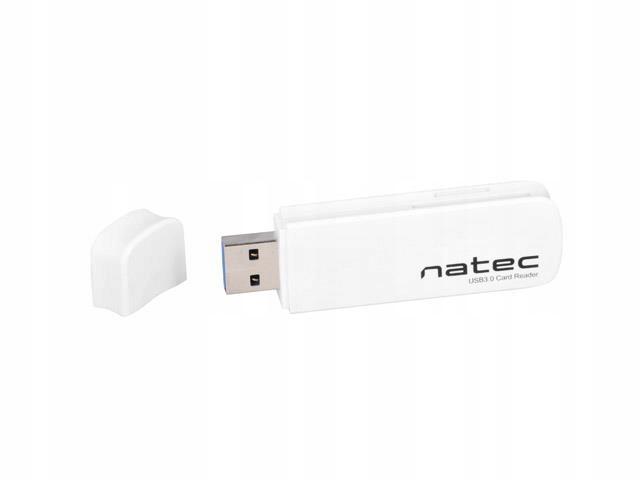 Czytnik Natec mini Scarab SD/MicroSD USB 3.0 white
