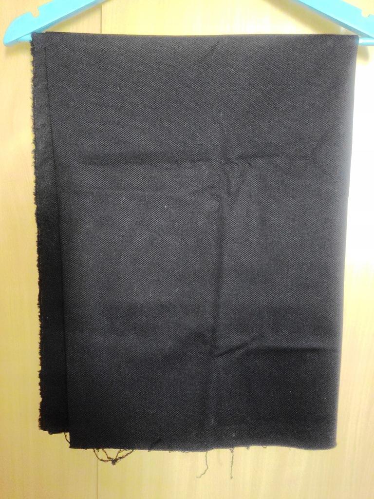 Materiał pika bawełniana czarna elastyczna 15073