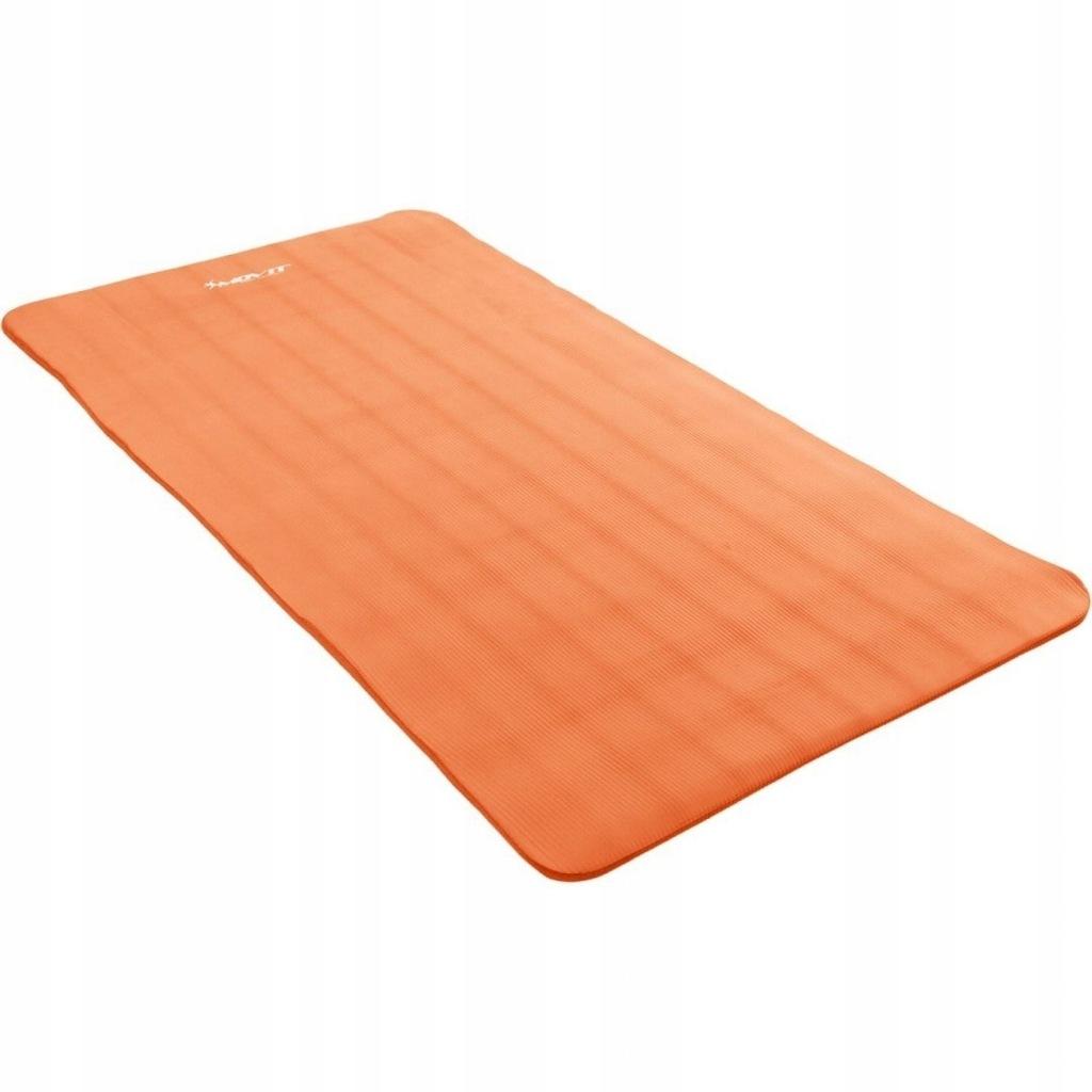 Pomarańczowa mata do ćwiczeń, jogi, masażu 190 x 6