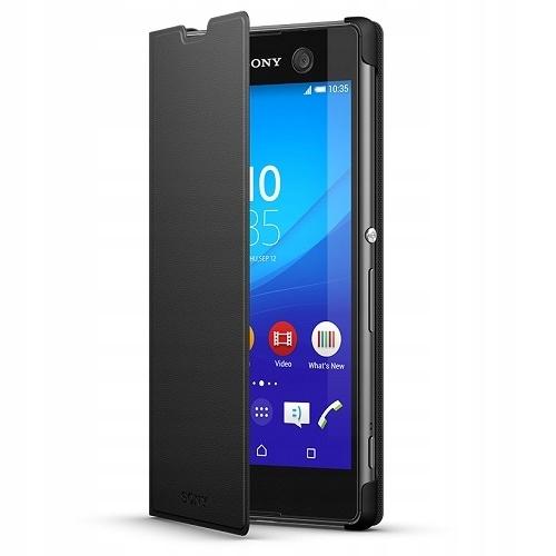 Etui pokrowiec Case Sony SCR48 czarny Xperia M5