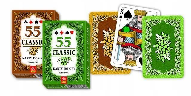 KARTY - CLASSIC 55 LISTKÓW TREFL, TREFL
