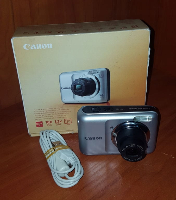 APARAT CYFROWY CANON A800 KOMPLET