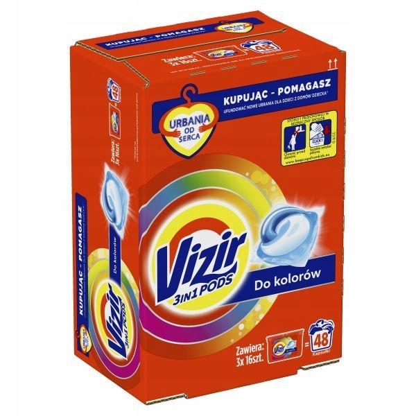 Kapsułki do prania kolorowych VIZIR COLOR BOX 3x16
