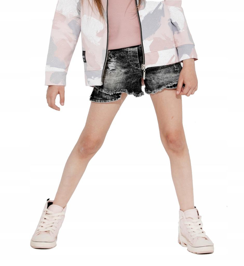 Spodenki szorty MashMnie z dziurami jeans 92/98 cm