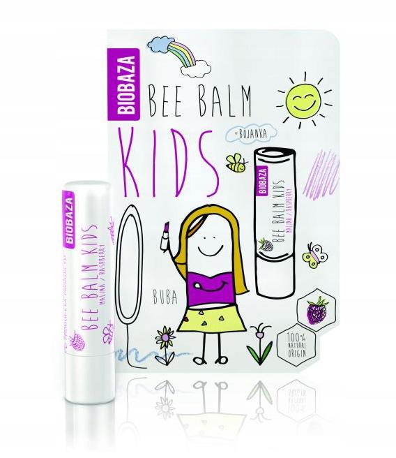 BIOBAZA Naturalna POMADKA BALSAM dla dzieci MALINA