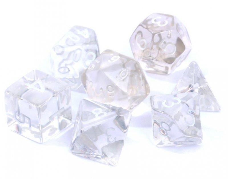 Rebel Komplet kości Kryształowe Przezroczyste