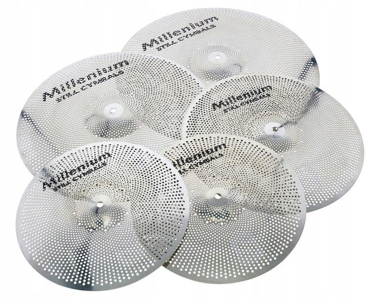 Zestaw cichych talerzy perkusyjnych Millenium