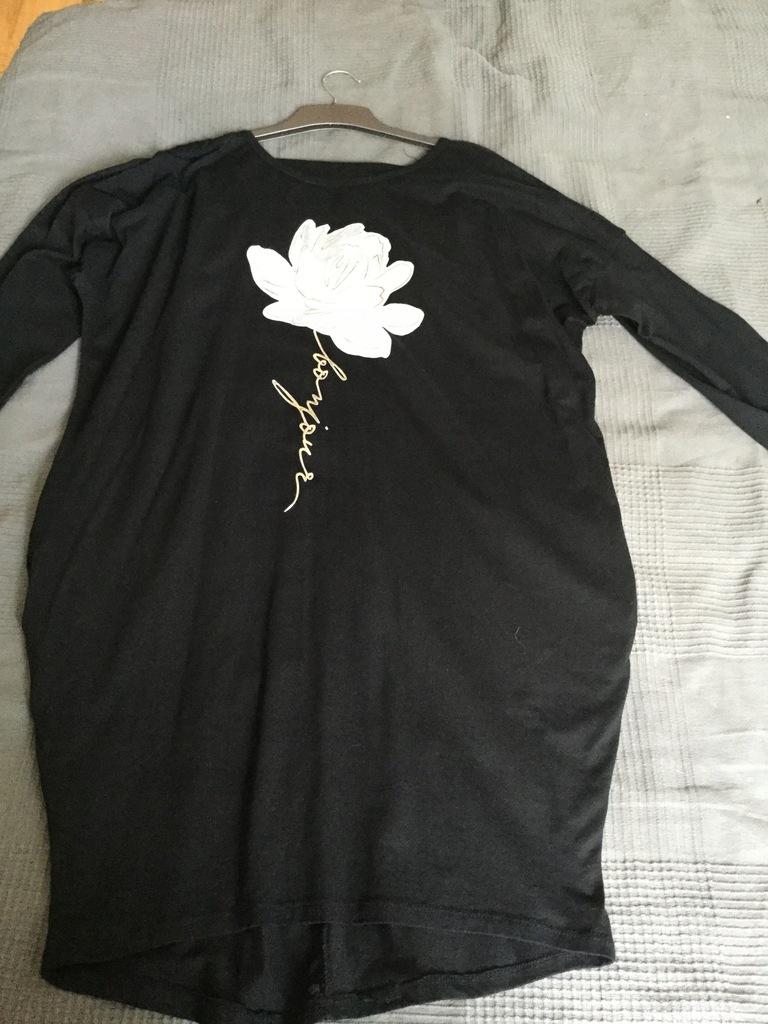 Czarna sukienka bawełniana a'la Magda Gessler 8226683491