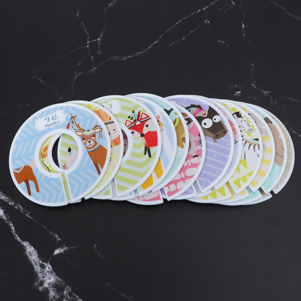 12pcs Baby Clothes Size Dividers Round Plastic Clo