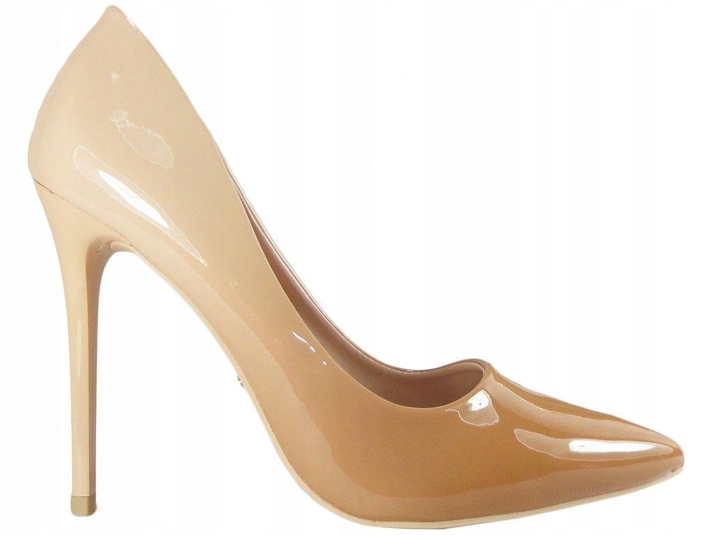 Szpilki ombre beżowe nude buty damskie 36