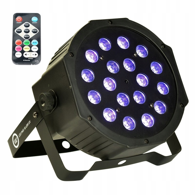 Reflektor ultrafioletowy LED PAR 18x3W UV LIGHT4ME