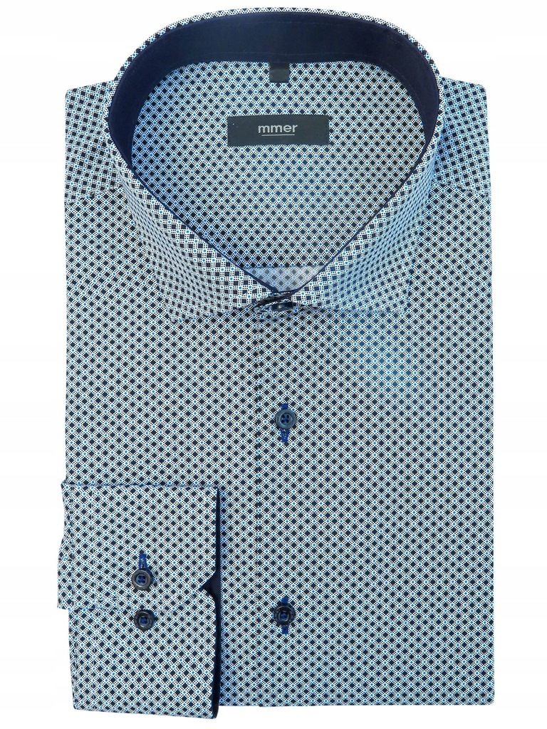 Koszula w drobny wzór Mmer 563 176-182 / 43-Slim