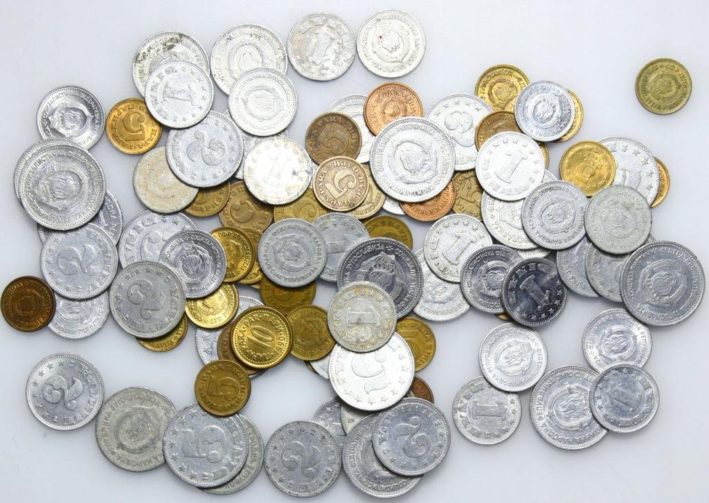 LOT - Jugosławia - STARE - 100 monet - zestaw A