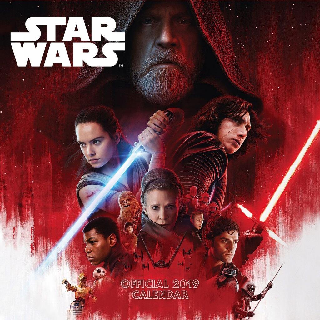 Star Wars The Last Jedi -Oficjalny kalendarz 2019