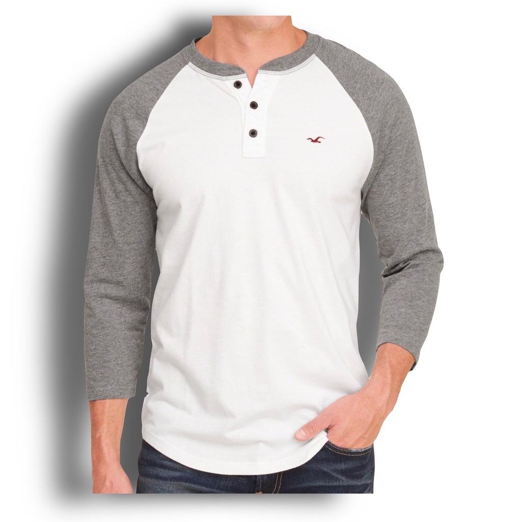 Koszulka męska henley Hollister w Męskie koszulki z długim