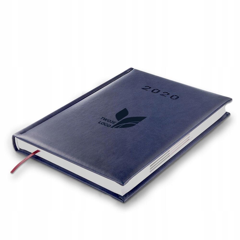 Niebieski Terminarz A5 Dzienny Z Logo Firmy Grawer 8305514968 Oficjalne Archiwum Allegro