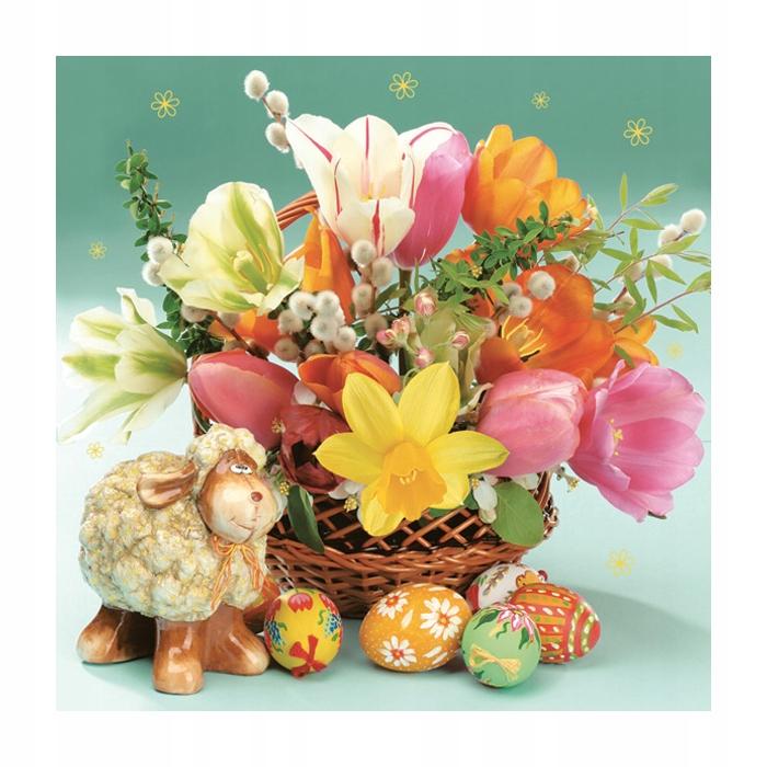 Serwetki Wielkanocne Decoupage Kwiaty 20szt 9022096556 Oficjalne Archiwum Allegro