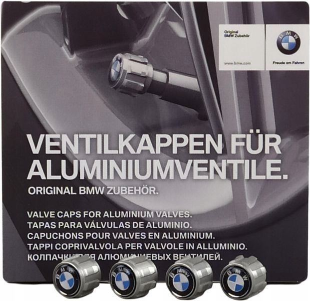 OE BMW ZESTAW WENTYLI KÓŁ Z LOGO BMW 6 F12 F13
