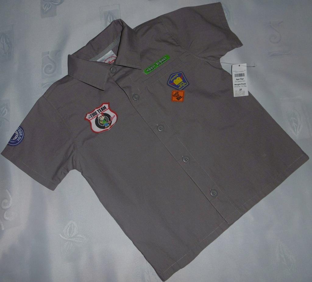 NOWA modniarska koszula dla chłopca r98