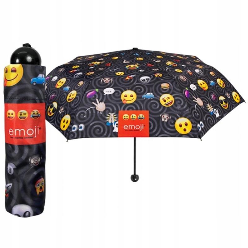 Składana na 3 parasolka dziecięca Perletti, EMOJI