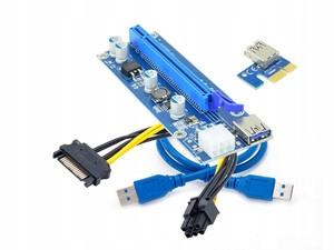 Riser USB3.0 PCI-E PCI 1x-16x 6PIN SATA 009S