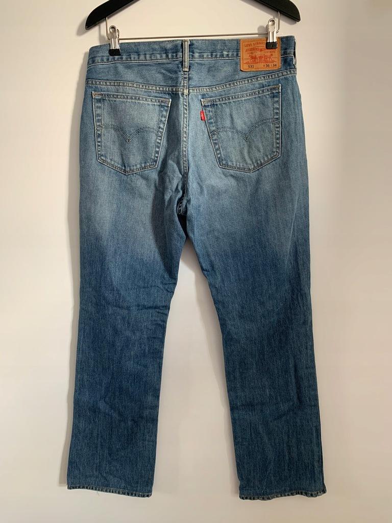 Jeansy męskie denim modne markowe Levi's W33