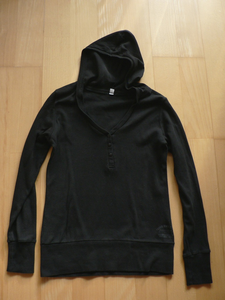 zestaw 4 bluzy szare i 1 czarna z dł rękawami M-L