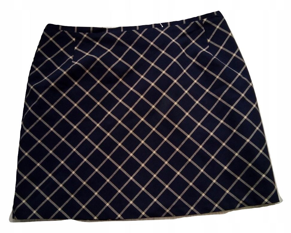 NEW LOOK spódnica czarna ołówkowa midi klamra L 40