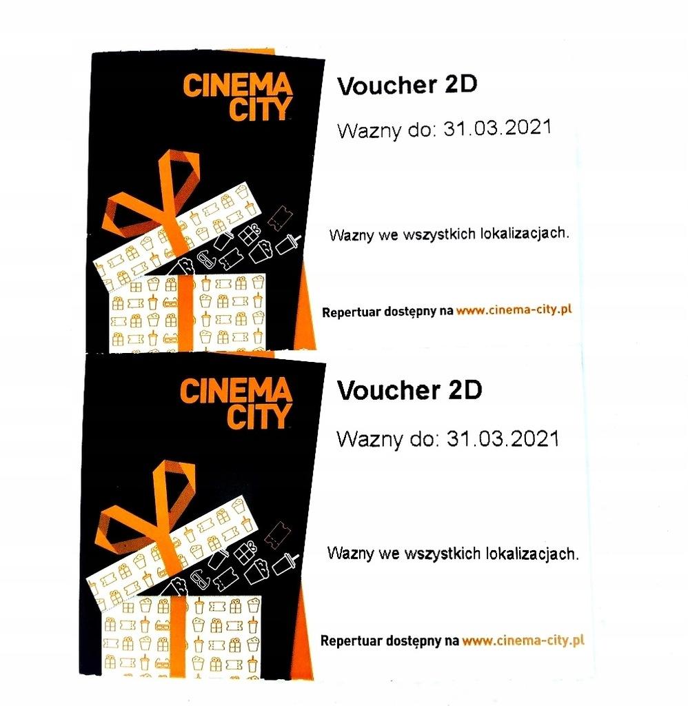 VOUCHER 2D CINEMA CITY 2 szt=1 kpl