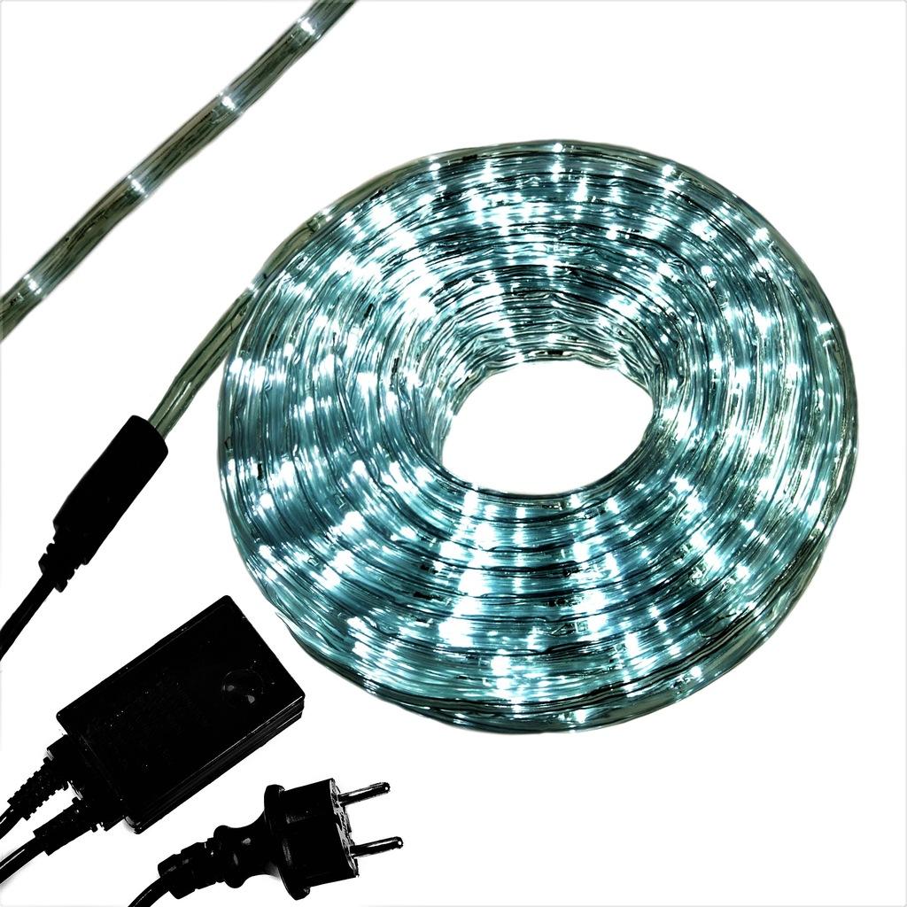 Wąż świetlny Led 30m Biały Zimny Gruba Wtyczka Zew 8729318129 Oficjalne Archiwum Allegro