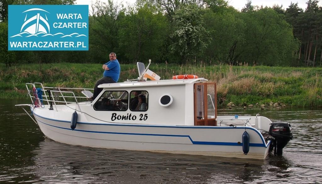Rejs, jednodniowy czarter łodzi na Warcie